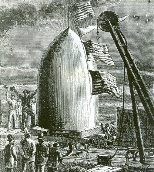 Illustration to From the Earth to the Moon