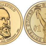 American coin dedicated to James Garfield