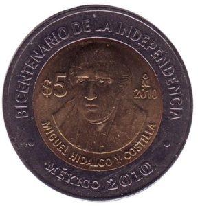 Coin dedicated to Miguel Hidalgo