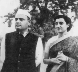 Indira and her husband Feroze Gandhi