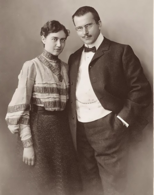 Jung and his wife