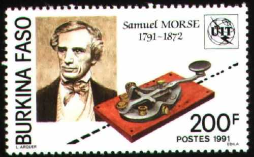 Stamp dedicated to Morse