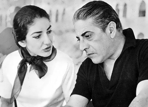 Onassis and Maria Callas