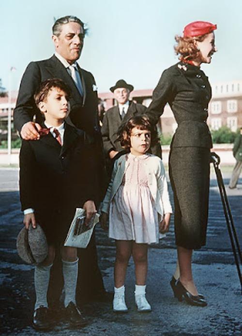 Onassis, Athina Livanos and their children