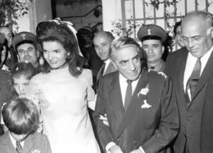 Onassis and Jacqueline Kennedy