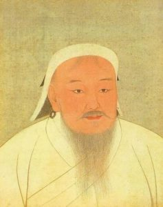 The only portrait of Genghis Khan, recognized and permitted by historians. It is in the Taiwan National Museum