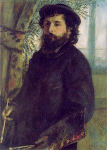 Auguste Renoir. Portrait of Claude Monet. 1875
