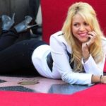 Shakira and her star on Walk of Fame