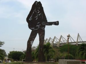 Statue of Shakira in Barranquilla, Colombia