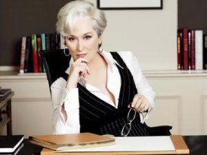 Streep in The Devil Wears Prada