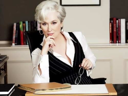 Streep in The Devil Wears Prada