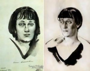 N. Tyrsa. Anna Akhmatova, 1927-1928