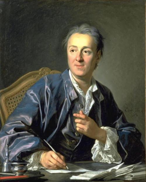 Denis Diderot - philosopher and writer. Portrait by Louis-Michel van Loo