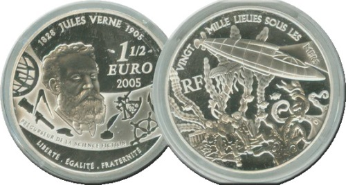 Coin dedicated to Verne
