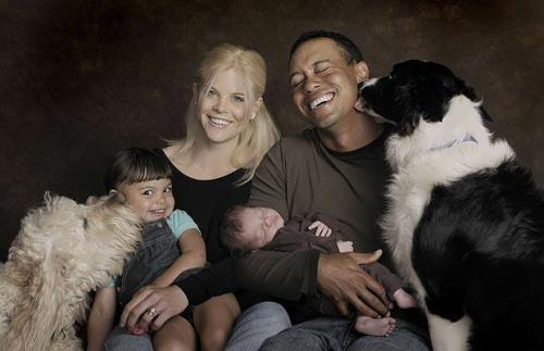 Woods, Elin Nordegren and their children