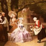 Marie Antoinette and Louis XVI in the garden