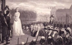 Marie Antoinette before the execution