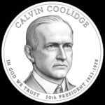 John Calvin Coolidge on the coin