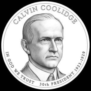 John Calvin Coolidge on the coin
