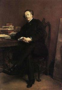 Jean-Louis Ernest Meissonier. Portrait of Alexandre Dumas fils