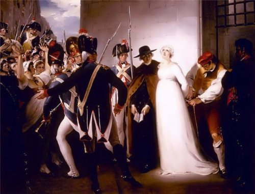George Hamilton. Marie Antoinette before the execution