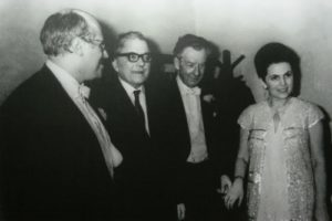 Mstislav Rostropovich, Dmitry Shostakovich, Benjamin Britten and Galina Vishnevskaya