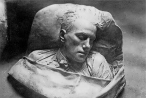 Sergei Merkurov. Mayakovsky's death mask