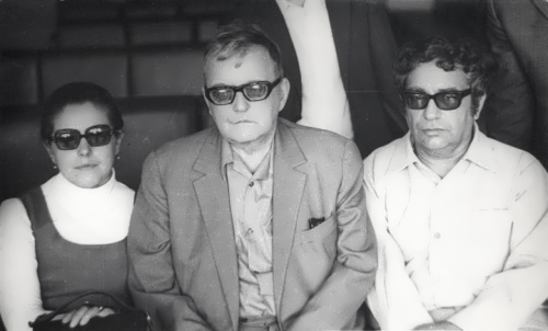 Shostakovich, his wife Irina and Azerbaijani composer Gara Garayev