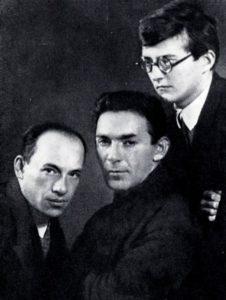 D. Shostakovich, L. Utesov, I. Dunaevsky. 1931