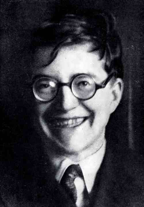 Shostakovich in 1933. Photo by N. Varzar