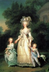 Adolf Ulrich Wertmuller. Queen Marie Antoinette of France with her children Marie-Therese Charlotte and Dauphin Louis Joseph, 1785-1786