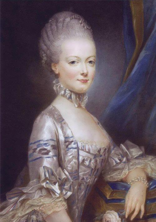 Joseph Ducreux. Portrait of Marie Antoinette, 1769