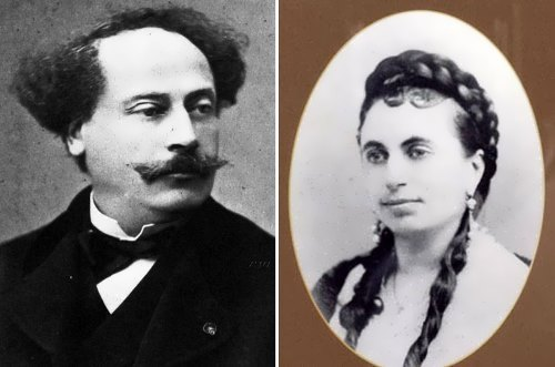 Dumas fils and his daughter