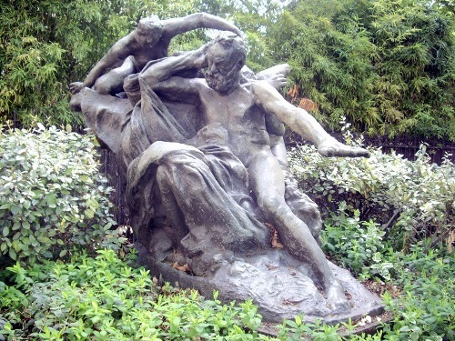 Auguste Rodin. Victor Hugo and The Muse