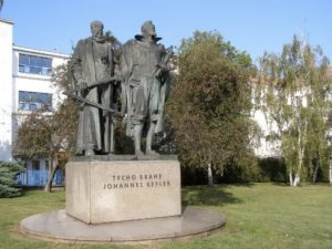 Monument to Tycho Brahe and Johannes Kepler