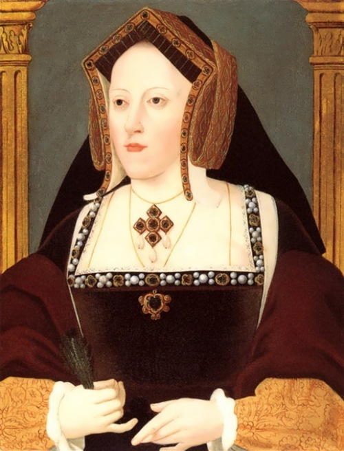 Official portrait of Catherine of Aragon, Queen of England. Unknown artist, 1525