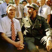 Castro and Leonid Brezhnev