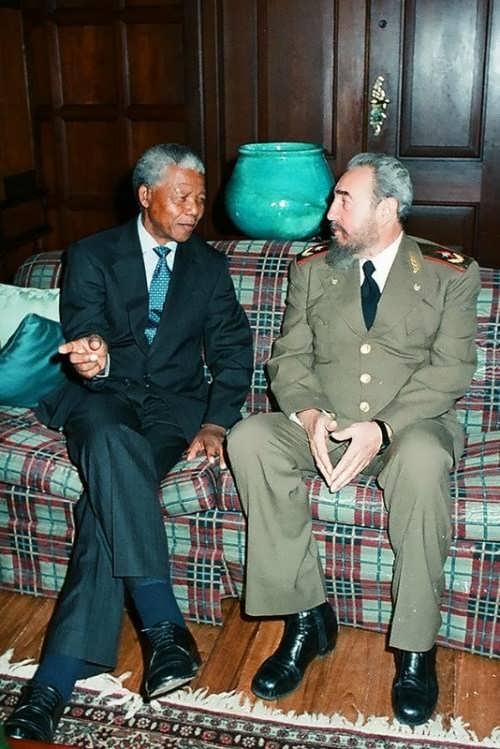 Castro and Nelson Mandela