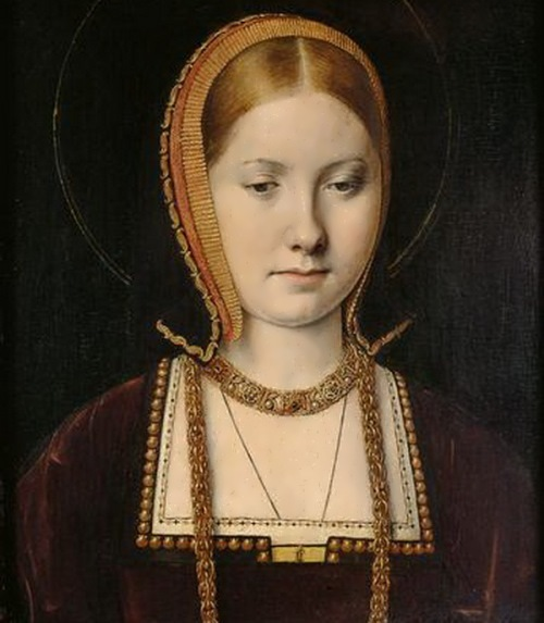Catherine of Aragon, the Dowager Princess of Wales. Portrait by Michel Sittow, 1503-1504