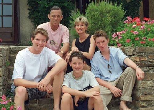 Redmayne and his family