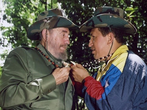 Fidel and President Hugo Chavez