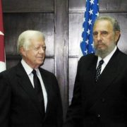 Fidel and United States ex-President Jimmy Carter