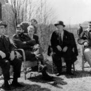 Fidel, Nikita Khrushchev and Leonid Brezhnev on April 30, 1963