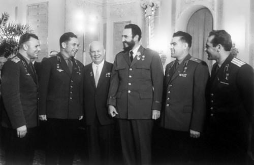 Fidel, Khrushchev and astronauts