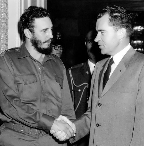 Fidel and Richard Nixon