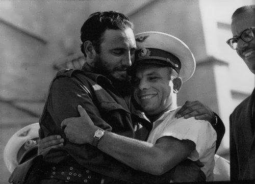 Fidel and Yuri Gagarin in Cuba