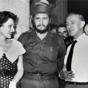 Fidel and actress Maureen O'Hara