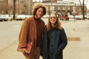 Hillary and Bill Clinton in 1971