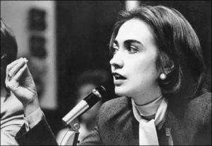 Hillary Clinton - strong woman among men