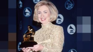 Hillary received Grammy
